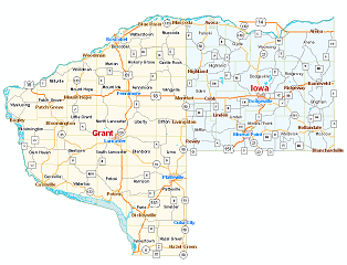 Grant County Iowa County - Map of iowa counties